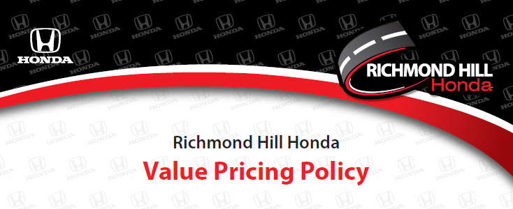 Market Value Pricing at Richmond Hill Honda