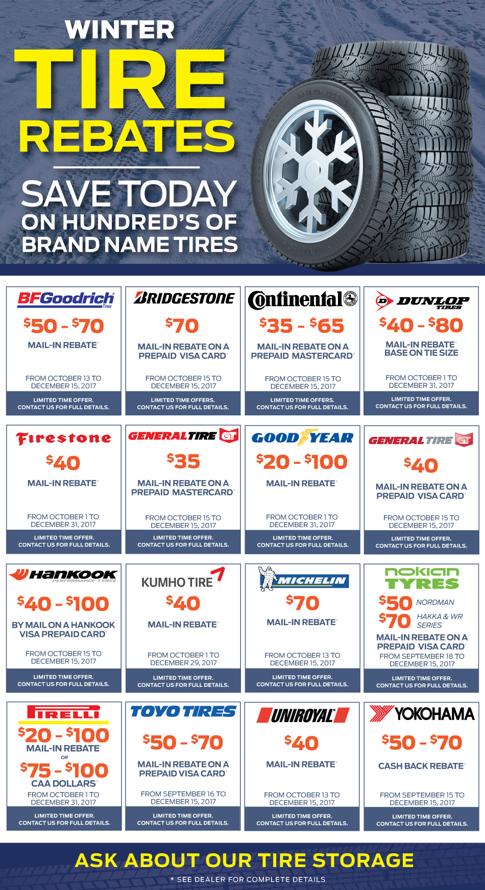 Manufacturer Winter Tire Rebates