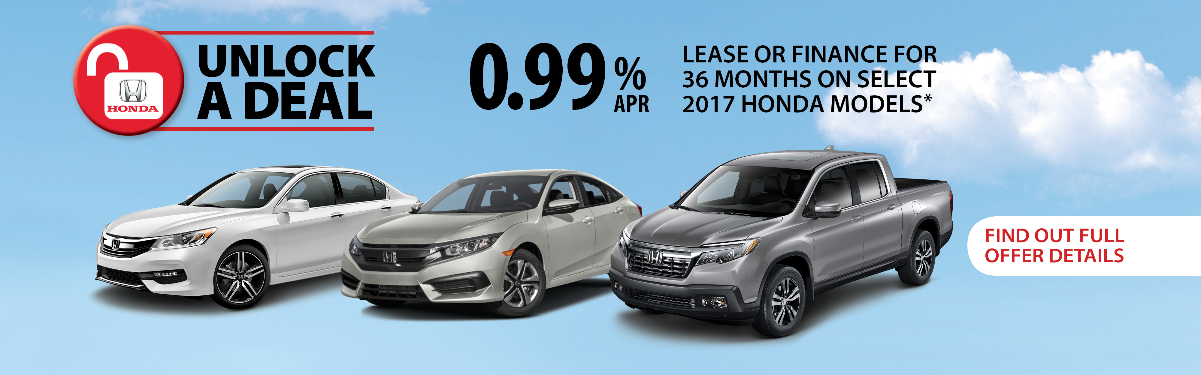Unlock a Deal this month at Richmond Hill Honda in Toronto, the GTA, and all of Ontario.