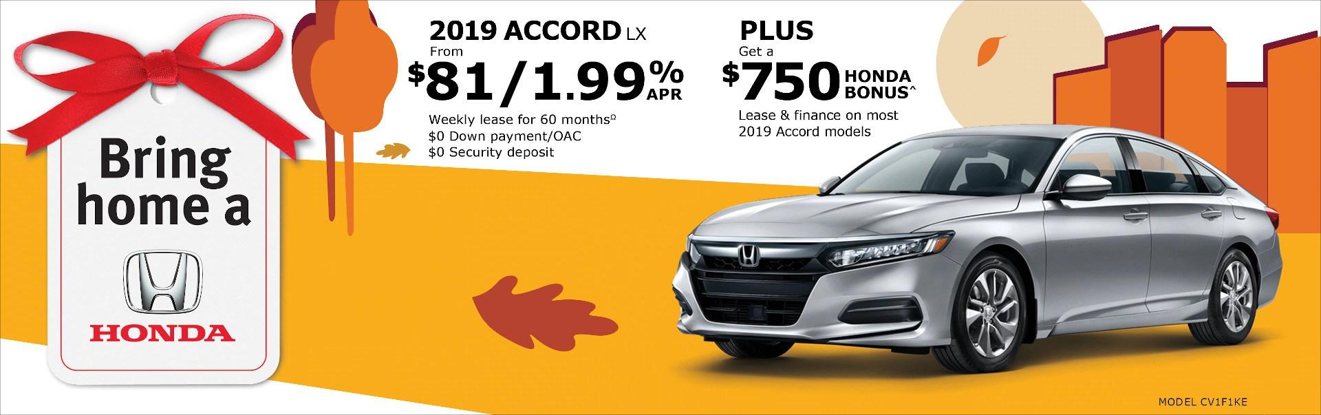 2019 Honda Accord at Richmond Hill Honda in Toronto and the GTA