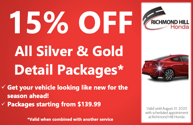15% OFF All Silver or Gold Detail Packages