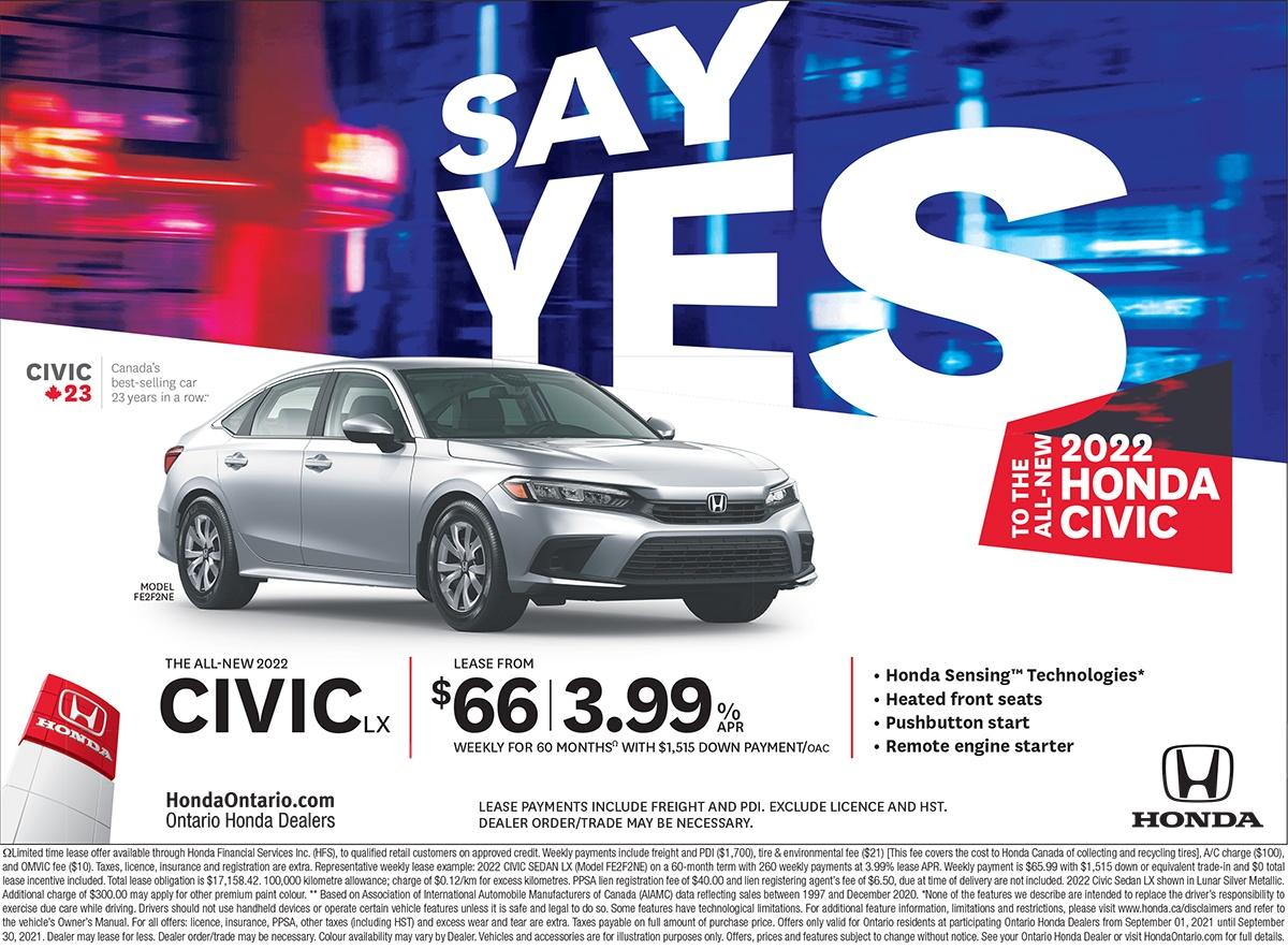 Honda Canada Incentives at Richmond Hill Honda in Toronto, the GTA, and all of Ontario.